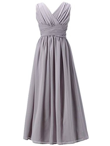Happy Rose Flower Girl's Dress Party Dresses Juniors Long Bridesmaid Dress Grey 16
