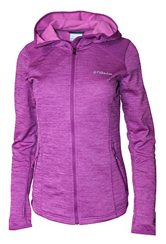 Fleece Full Zip Hooded Womens - Columbia Women's Rosemont Station Hooded Full Zip Fleece (Intense Violet, L)
