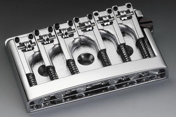 Schaller Non-Tremolo Bridge Chrome W/Adj. 2''-2-3/16'' Allparts SB-0281-010