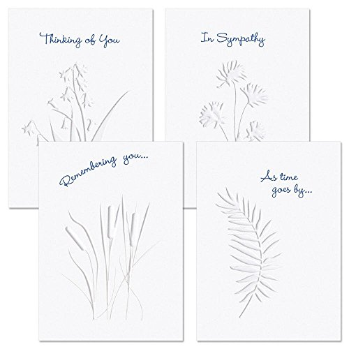 Moments Past Deluxe Sympathy Cards - Set of 8 (4 designs)