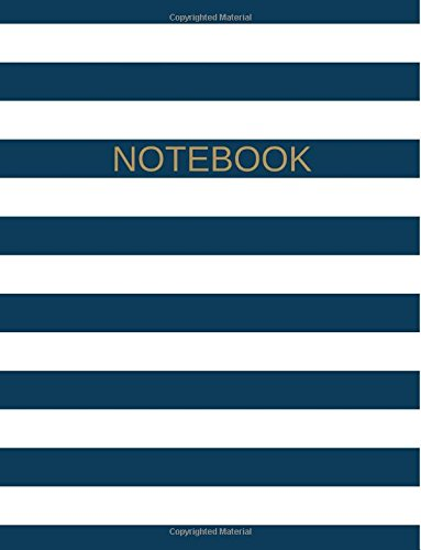 """Read Online Large Softcover Notebook: 8.5"""" X 11,"""" College Ruled, 150 Sheets (300 Pages), Blue/ White Stripes, Use as a Journal, Diary, Logbook PDF"""
