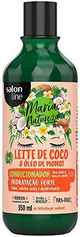 Condicionador - Maria Natureza Leite de Coco Hidratação, 350 ml, Salon Line, Salon Line, Branco