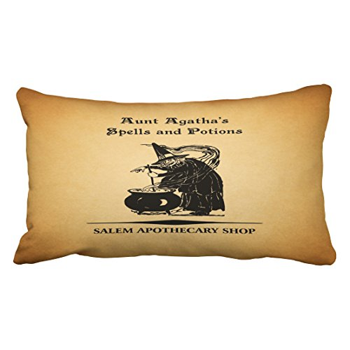 Accrocn Halloween Spells Potions Throw Pillow Covers Cushion Cover Case 20X36 Inches Pillowcases One -