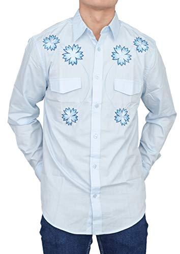 Adult Halloween Costume President Pedro Buttom Down Shirt Blue ()