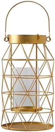 北欧ゴールデン幾何キャンドルホルダーシンプルなポータブル装飾キャンドルランタン風のランプクリエイティブホームソフト装飾モデルルームの装飾