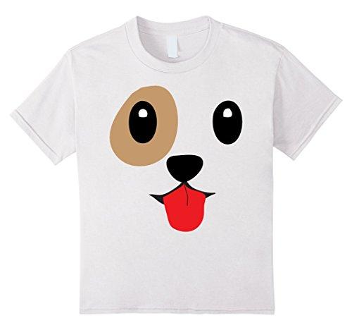 [Kids Dog Emoji Halloween Costume Dog Face Tongue Out Emoji 10 White] (Hot Dog Costume Women)