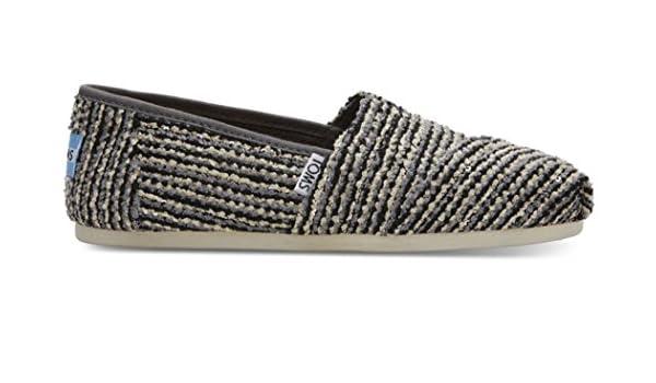 TOMS Classic Black Sequin Boucle Womens Espadrilles Shoes-8 jaCTi
