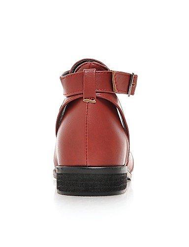 5 2016 Rouge Bout Habillé Noir Similicuir Eu39 Plat Pointu Femme Chaussures us8 Uk6 Njx 5 Jaune Richelieu Red Cn40 Talon wd1qRxZ