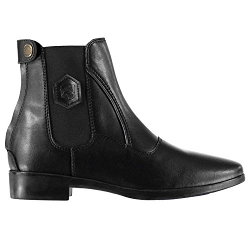 Requisite Womens Rive Jodhpur Boots Zip Pull On Leather Black dFubW08N