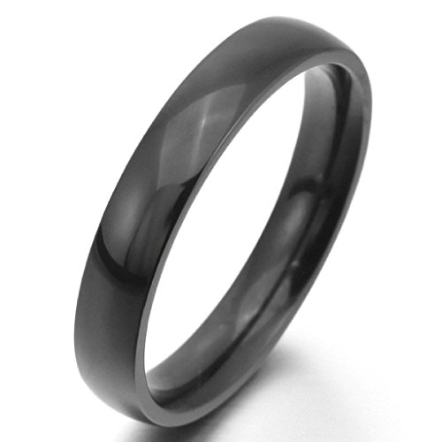 Aooaz Stainless Steel Rings For Men Polisehd Black Wedding Band Promise Ring Retro Gothic Punk Size 7 (Halloween Band Aid Cookies)