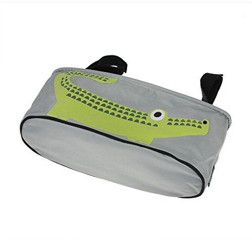 Bao Core BXT Cartoon Cute Waterproof Baby Stroller Bag Organizer Pram Hanging Storage Bag Diape Bottle Tote Bags (Crocodile)