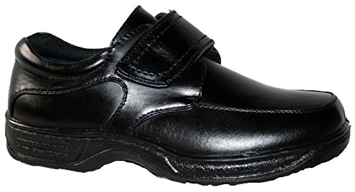 Slip pu Bar Walk de black Touch On Casual zapatos velcro Cushion Hombre ligero correa y cerca qY6pg