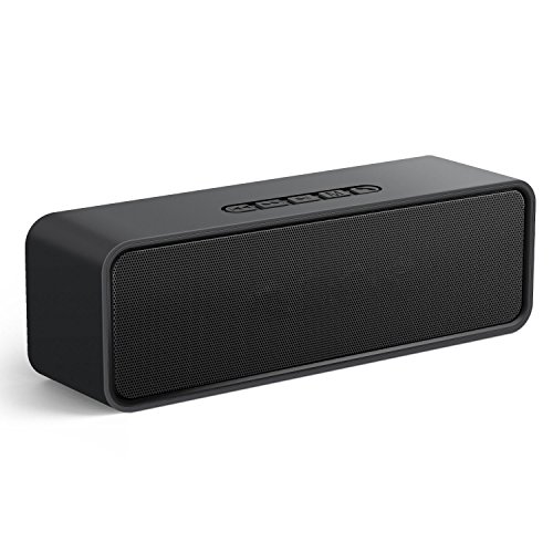 Zibet Bluetooth Speaker Portable Bluetooth 4.2 Stereo Speaker with 15-Hour Playtime, 6W Dual-Driver,AUX,USB,TF Card Ports and Built-in Microphone,works with iPhone, iPod, iPad, Samsung, LG,Laptops