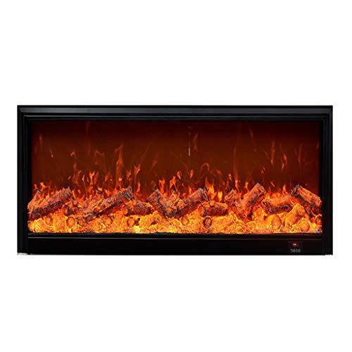 Cheap Electric Fireplaces ADKINC 50 Inches Fireplace Insert Heater with 2-Speed Adjustment 1500W Black Black Friday & Cyber Monday 2019