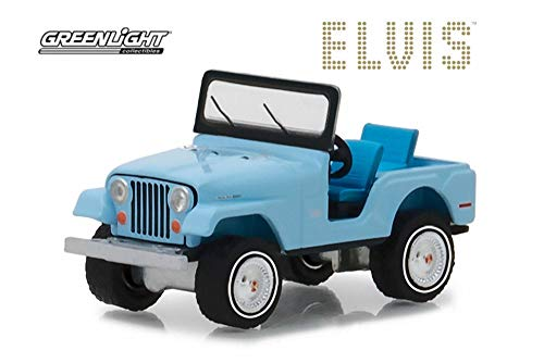 Jeep CJ-5, Sierra Blue - Greenlight 29955/48 - 1/64 Scale Diecast Model Toy Car