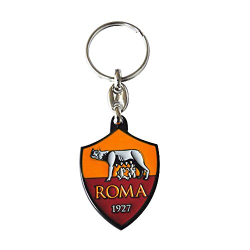 AS Roma Keychain Logo in Metal - Official Product
