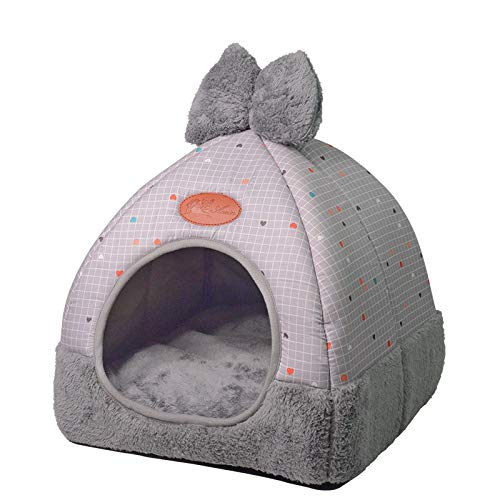 (HOT!! Puppy Kennel Dog House Nest with Mat Foldable Pet Dog Bed Cat Bed for Small Medium Dogs Travel Pet Sleepping Bag)