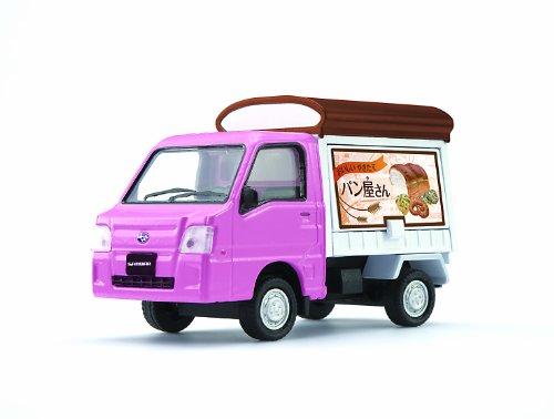 1/36 スバルサンバー 軽トラック パン屋(ピンク×ホワイト) 「ダイヤペット トラックコレクション」 DK-5116
