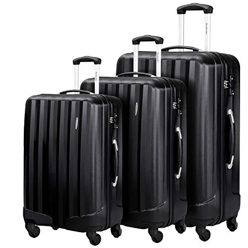 Price comparison product image Durable 3 Pcs Luggage Sets,  Hardshell Spinner Suitcase with TSA Approved Locks, Lightweight Carry on Suitcase