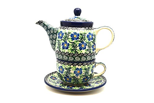 Polish Pottery Tea Time for One - Sweet Violet