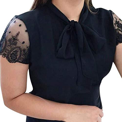 Sevem-D Chiffon Blouse Women Clothes New Tie Hollow Out Womens Tops Blouses Ladies Tops Black Women Blouses