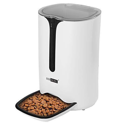 VIVOHOME 6.5L Automatic Pet Feeder Programmable Food Dispenser with Timer, Portion Control, Voice Recording for Cats and Dogs