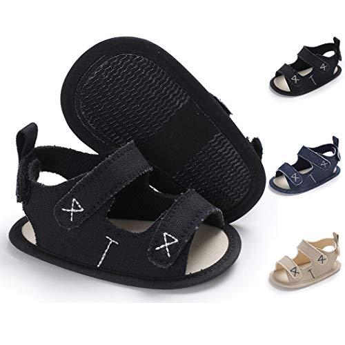 - Baby Boy Sandals Anti-Slip Sole First Walkers Summer Shoes Infant Sandals for Toddler Girls(0-18 Months)(6-12 Months M US Infant,C-Black)