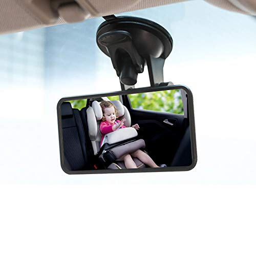 Yoolight Baby Car Rearview Mirror Back Seat Rear View Facing Infant in Sight Adjustable, Shatterproof and Crash Tested Mirror (2)