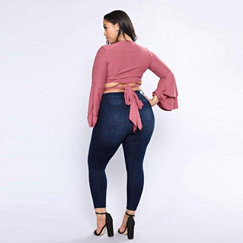 Ashop Donna Jeans Stretch A Fit Primavera Donna Vita In Skinny Blu Pantaloni Slim Alta Autunno Strappati Donne Scuro Jeans Estate Denim rxwYgBqrF