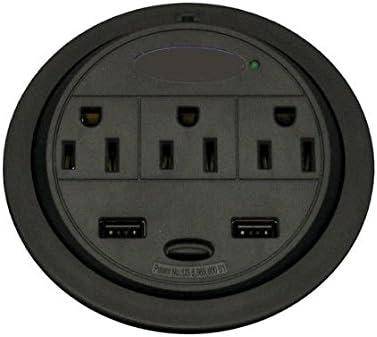 Sunway GMPT-2 PowerTap USB Power Grommet Desk Electrical Outlet
