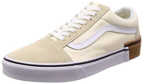 Vans Womens Old Skool Low Top Lace Up Skateboarding Shoes, Beige, Size 9.5