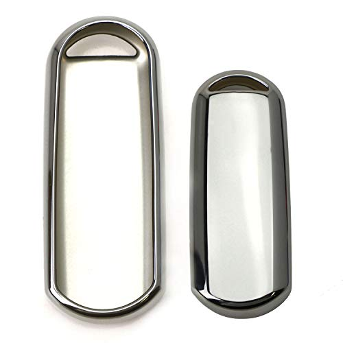 iJDMTOY Chrome Finish Silver TPU Key Fob Protective Cover Case For Mazda 2 3 5 6 CX-3 CX-5 CX-7 CX-9 MX-5 Remote Key (Fit Keyless Fob ONLY, not Flip Key)