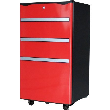 Igloo 3.2 cu ft Garage / Utility Refrigerator | 2 Removable Wire Shelves, Red FR329