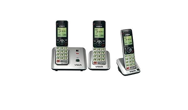 Vtech CS6619 DECT 6.0 Sistema de teléfono inalámbrico con Auricular 3, ID de Llamadas/Llamada en Espera, Manos Libres y Conferencia, Marca Sellado: Amazon.es: Electrónica