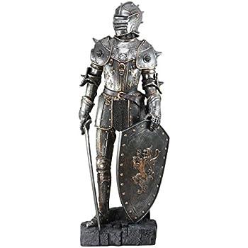 Ebros Large 2875H Medieval Suit Of Armor Warrior Knight Swordsman Statue Home Decor Figurine