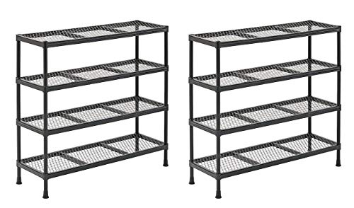 Sandusky CSR311031 Gray Combination Wire Shelving Unit, 4 Shelves, 31