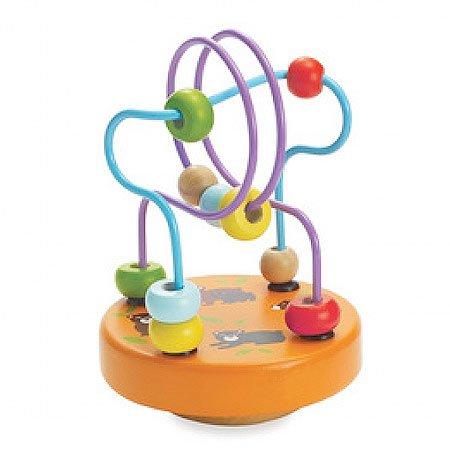 Manhattan Toy Wobble-A-Round Beads, Orange, Baby & Kids Zone