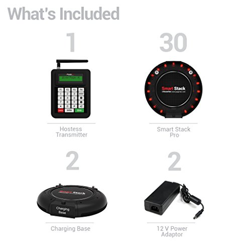 Long Range Pager Digital Coaster 2.0 Paging System, Restaurant Pager Coaster Style System,Red LED Lights (Set of 30) by Pagertec (Image #4)