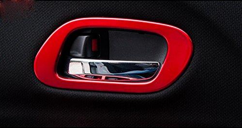Salusy ABS Chrome Interior Door Handle Cover Trim For Honda HR-V Vezel 2014 2015 2016 (Red) (Handles Internal Door Sets Chrome)
