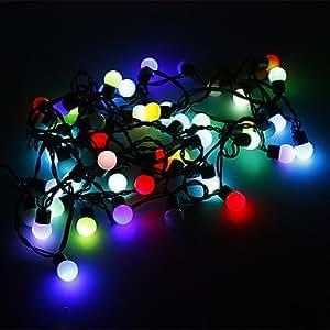 Get 5M 3W 50-LED RGB Light Ball Shaped LED Strip Light (220V)