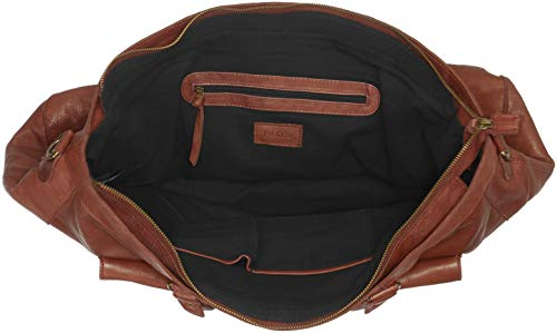 Pctotally y Noos Travel Marrón bolsos Shoppers Stone Leather de Royal PIECES Brown Bag Mujer hombro dXq0dx