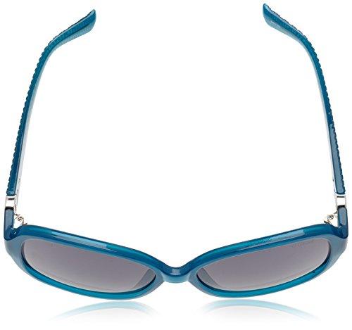 Guess textura Blu Azul Mujer sol Oversized gafas ovalada con de rrvCq4Hwx