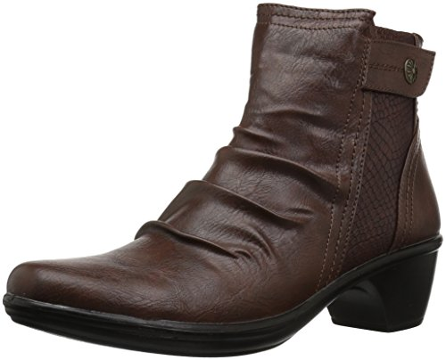 Easy Street Women's Draft Ankle Bootie, Tan/Snake, 10 M US (Tan Snake)