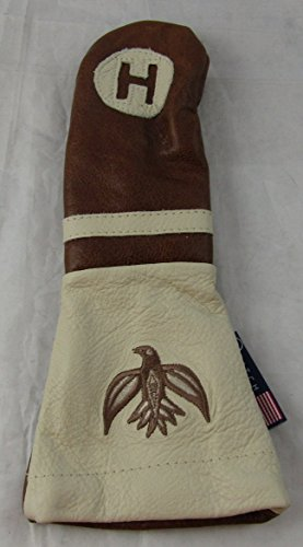 Logo Hybrid Golf Headcover (Stitch Golf Leather ROADSTER Hybrid HEADCOVER COWHIDE LOGO AS PICTURED)