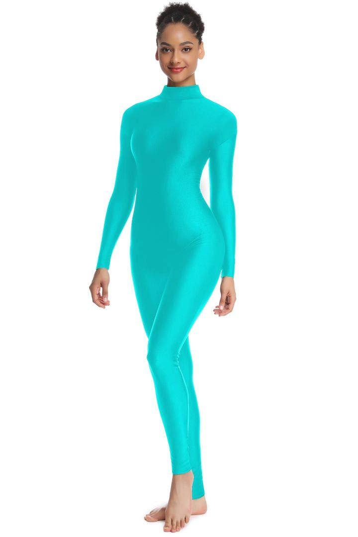 OVIGILY Adult High Neck Long Sleeve Dance Unitard for Women Bodysuits by OVIGILY