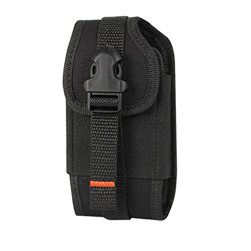 Reiko Buckle Belt Clip Rugged Pouch for XXXL Size Smartphone - Retail Packaging - Black