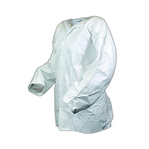 Magid Glove & Safety J11-XXL DuPont Tyvek Two-Pocket Jacket, 4, White , XXL (Pack of 50) by Magid Glove & Safety (Image #1)