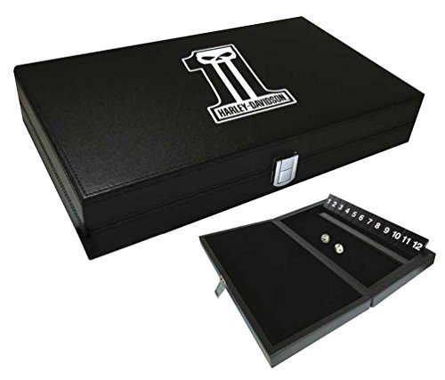 Harley-Davidson Dark Custom #1 Skull Logo Shut The Box Game, Black 66935