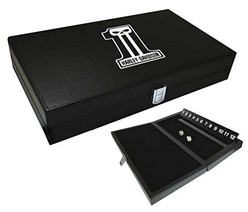 Harley-Davidson Dark Custom #1 Skull Logo Shut the Box Game, Black 66935 Shut The Box Online