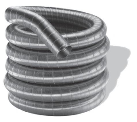 DuraVent 7DFSW-30 Stainless Steel DuraFlex SW 7 X 30 Foot Single Wall Pipe Length From the DuraFlex SW Series